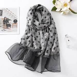 2021 Fashion Little Star Silk Shawls Wraps Scarf
