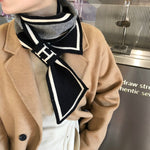 2021 Fashion Striped Neck Scarf