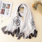 2021 Spring New Fashion French Elegant Shawl Scarf