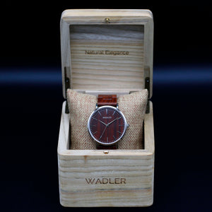 Wadler Original Watch for men displaying its box front view