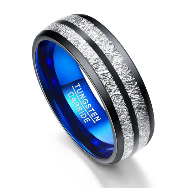 Titanium  Garbide  Blue Ring