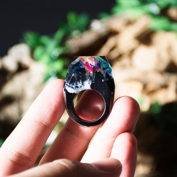 Magic Wooden Resin Rings