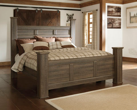 Juararo King Poster Bed Frame