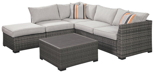 Cherry Point Sectional w/Ottoman & Coffee Table