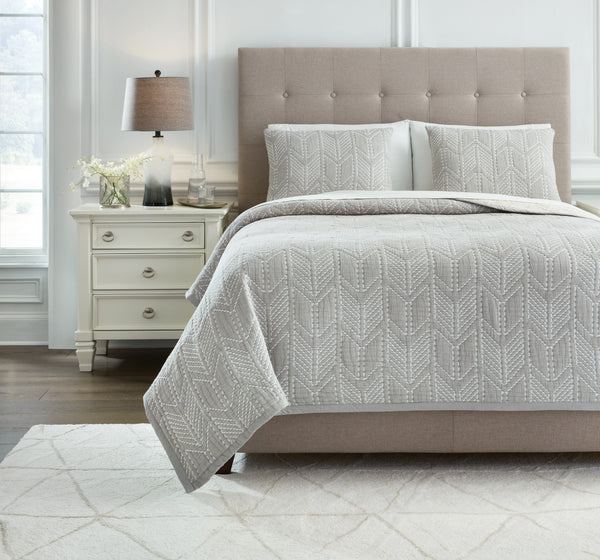 Jaxine Queen Coverlet Set