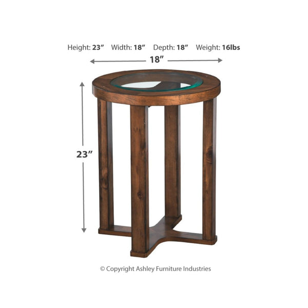 Hannery Round End Table