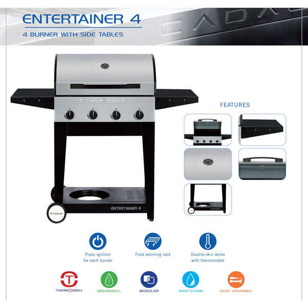 Entertainer 4-Burner Stainless Steel Grill, 57000BTU