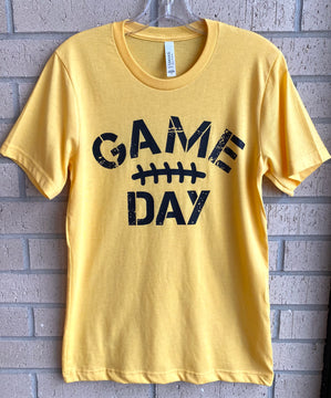 Adult GAME DAY Tee- Yellow