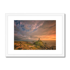 Unus Llanddwyn sunset Framed & Mounted Print
