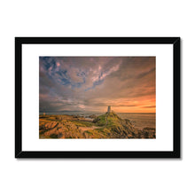 Load image into Gallery viewer, Unus Llanddwyn sunset Framed & Mounted Print