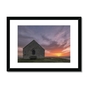 St Cwyfans Church, Aberffraw Framed & Mounted Print
