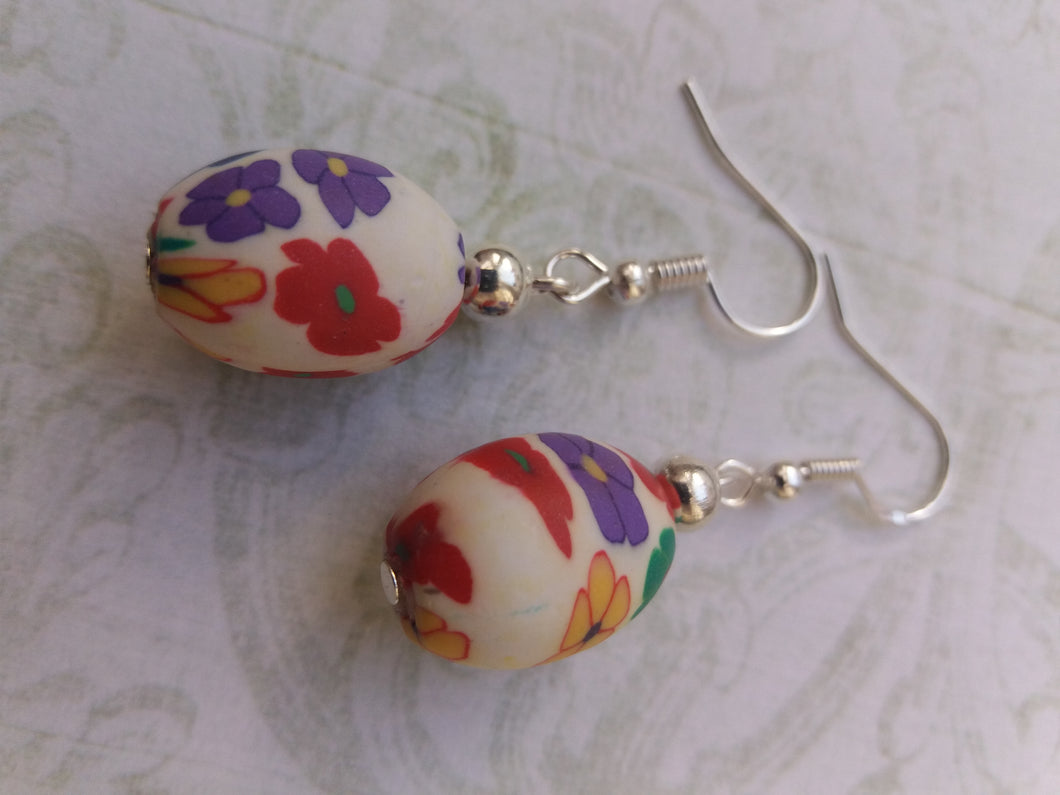 Fimo Oval Earring