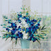 Blue and White Orchids