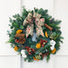 16 Inch Luxury Christmas Wreath Brown Orchids