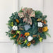 16 Inch Luxury Christmas Wreath Green Orchids