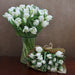 10 White Superparrot Tulips