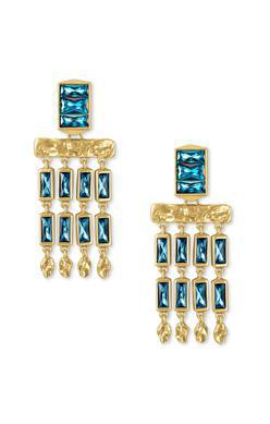 Kendra Scott Jack Small Statement Earring Gold Teal Crystal