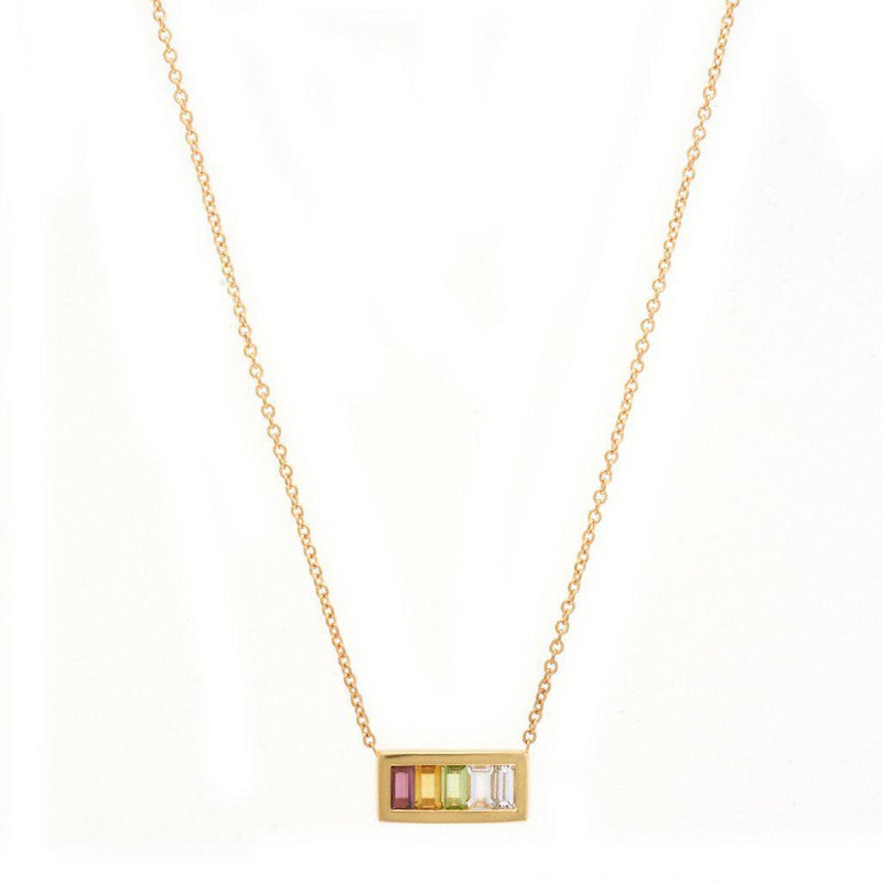 My Story The Aria Necklace In Sun 14K Rose Gold