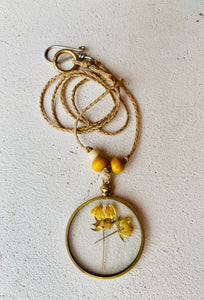 VINTAGE BRASS LOCKET; yellow