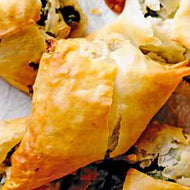 Spiced Sweet Potato and Spinach Filo Pastry Parcels