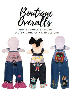 Give plain Overalls a Boutique Touch!