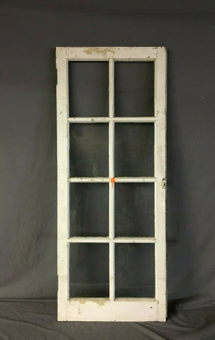 Single 22 x 55 Antique 8 Lite Casement Porch Window Old Shabby Vtg Chic 142-19B