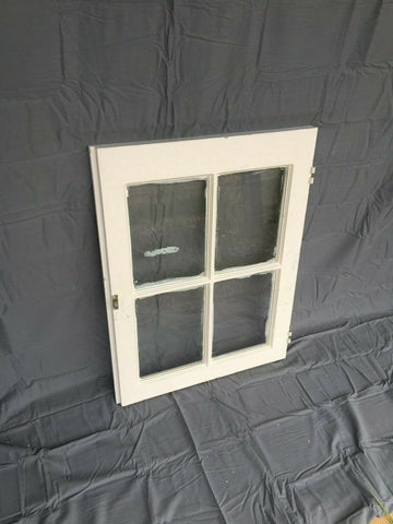 Antique 20x26 4 Lite Casement Window Vtg 392-19J