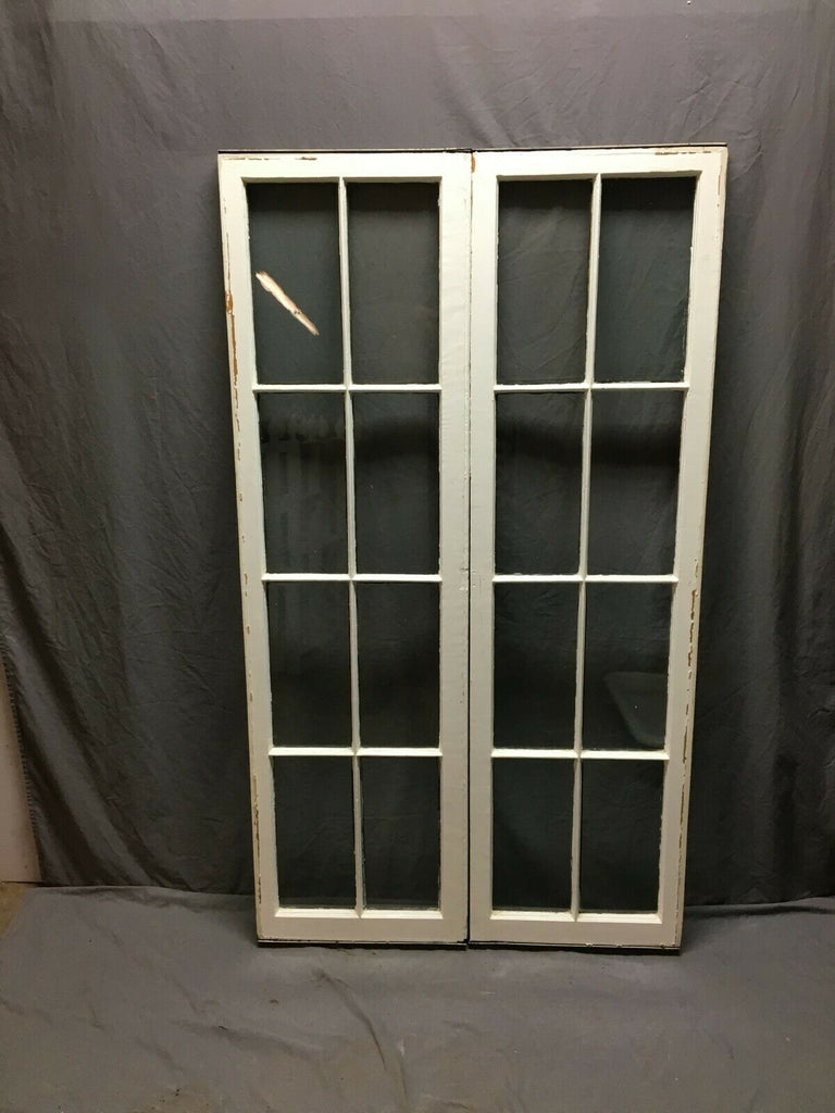 Pair 18 x 64 Antique 8 Lite Casement Window Vtg Old 149-19B