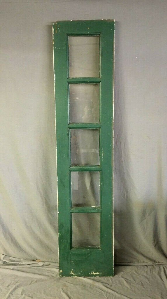 Vtg 5 Lite Entryway Transom Window Sidelight Wood Sash 19x84 Old 169-19B