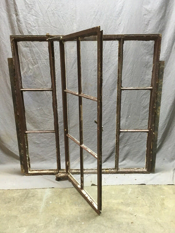 Antique Left Out swing 6 Lite Casement Steel Industrial Window 38x39 Vtg 352-20E