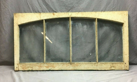 Antique Transom Arched Top Window Sash 23x44 White Shabby Vtg Chic 453-20B