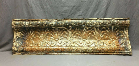 Large 4 Foot Antique Tin Ceiling Cove Trim Decorative Architectural 445-20B