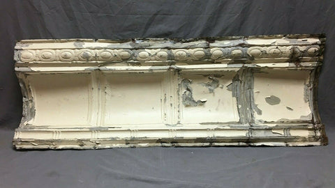 Large 4 Foot Antique Tin Ceiling Cove Trim Decorative Architectural 447-20B