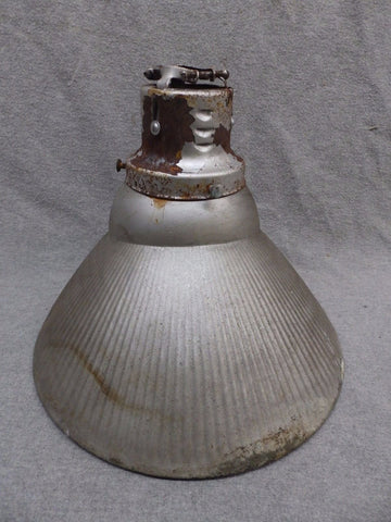 Vintage Industrial Ceiling Light Permaflector Silver Mercury Glass Shade 366-17R