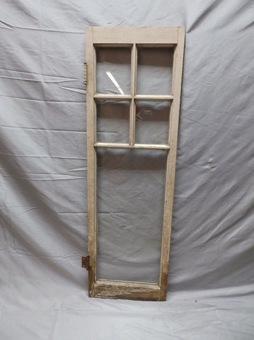 Antique 5-Lite Small Casement Window 42x13 Cabinet Cupboard Door Vintage 96-18P