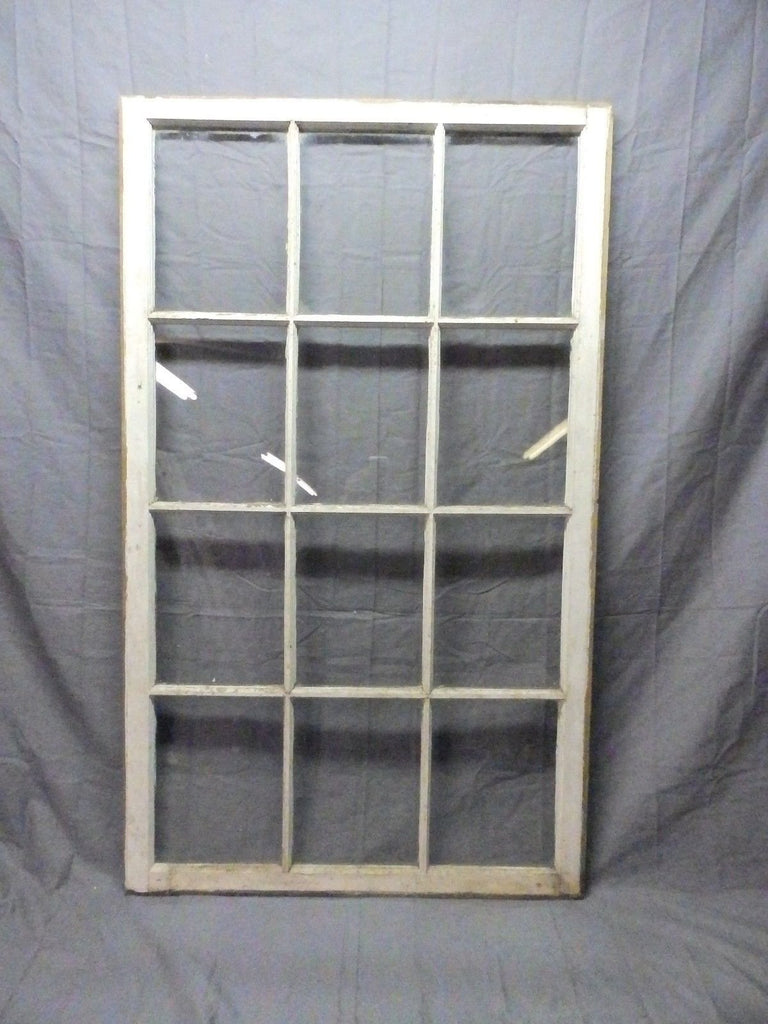 Large Antique 12 Lite Pane Cottage Window Sash Shabby Window Wall 52x31 606-17P