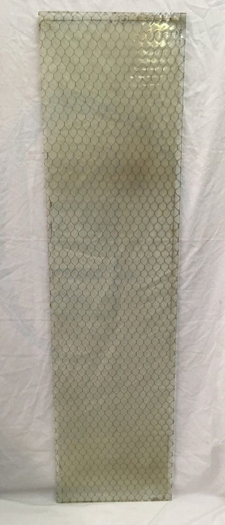 1 Piece Vintage 52x14 Industrial Chicken Wire Saftey Security Glass Old 805-17E