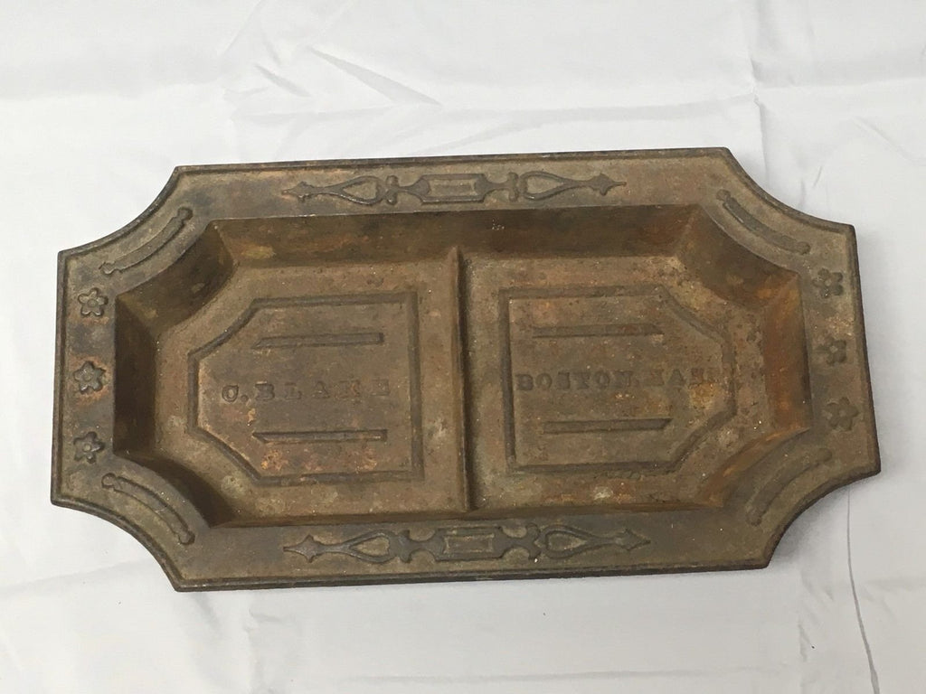 Antique Cast Iron Bowl Dish Planter Decorative Tray Urb Pot C. Blake Vtg 550-17E