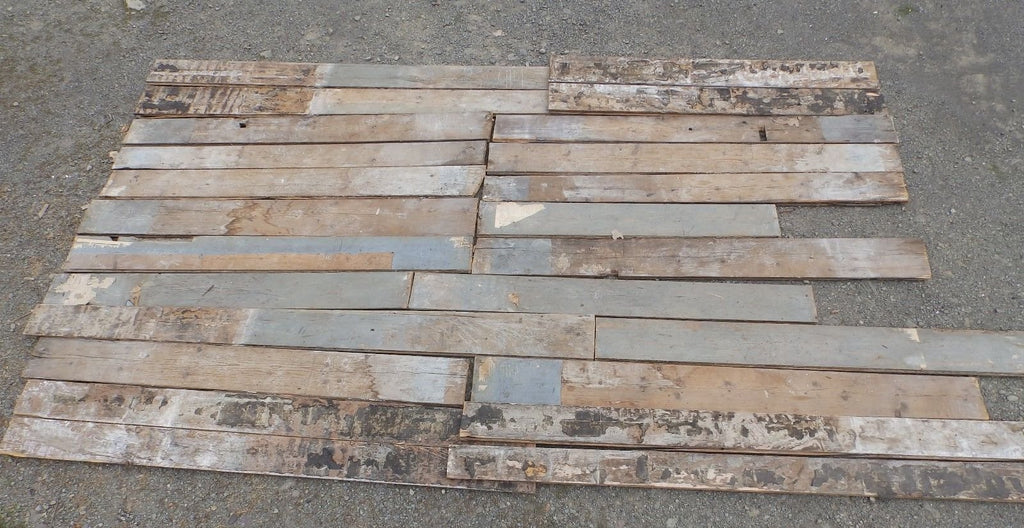 Genuine Antique Pine Wide Plank Tongue & Groove Flooring 120 sq ft Old 1704-16