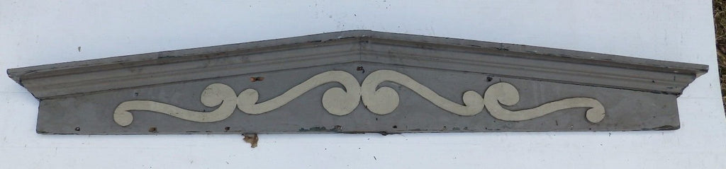 Large Antique Window Pediment Header Old Vintage Shabby Victorian Chic 363-16