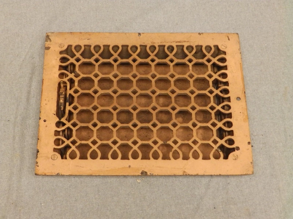 Antique Honeycomb Cast Iron Heat Grate Register Vent Old Vintage Hardware 635-16
