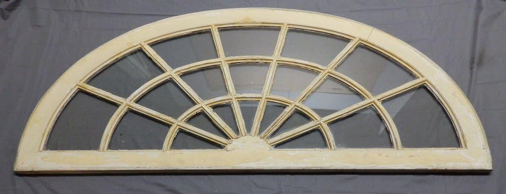 Large  Antique Arched Dome Top Transom Window Sash 29x70 Fan Old Vtg 549-18P