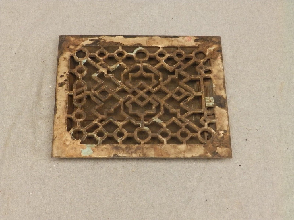 Antique Cast Iron Heat Grate Register Vent Old Vintage Hardware 638-16
