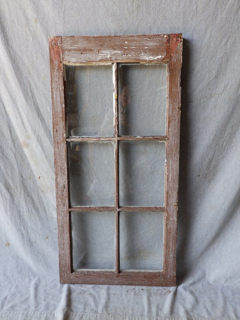 Antique Vintage 6 Lite Casement Window Cabinet Door Kitchen 36x18 266-17P