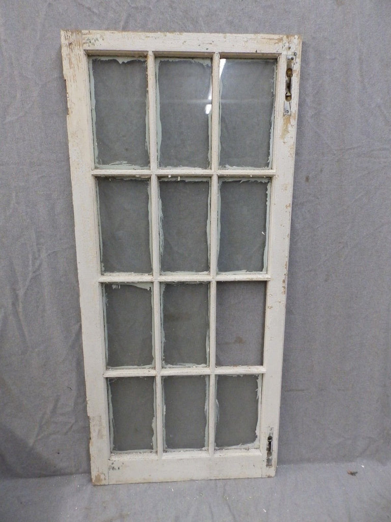 Antique 12 Lite Casement Cupboard Window Cabinet Pantry Shabby Vtg Old 1127-16