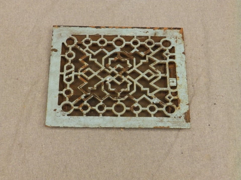 Antique Cast Iron Heat Grate Register Vent Old Vintage Hardware 637-16