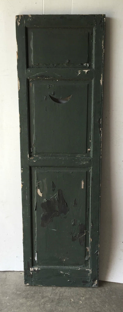 Antique Crescent Moon Shutter Cupboard Door Shabby Cottage Chic Vintage 1104-16