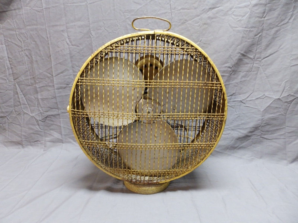 Cool Vintage Art Deco Electric 4 Speed Bird Cage Fan Multi Speed 3 Blade 618-18P