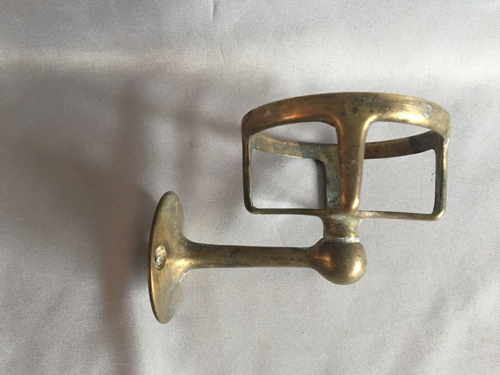 Vintage Brass Wall Mounted Cup Tumbler  Holder Old Bathroom Fixture 256-17J