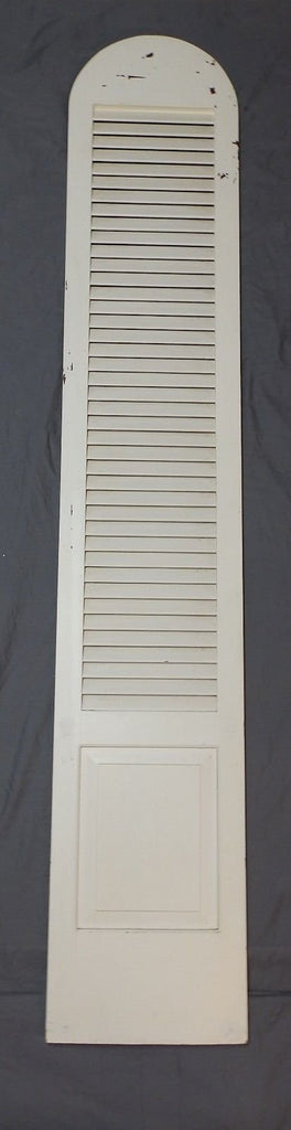 Tall Vtg Arch Top Dome Louvered Shutter 90x16 Shabby Pantry Door Chic 591-18P